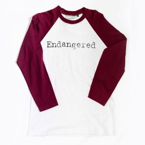 Maroon Grey Endangered Tshirt Australian Made