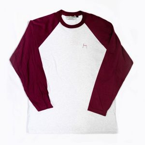 Maroon Grey Tshirt Australian Made