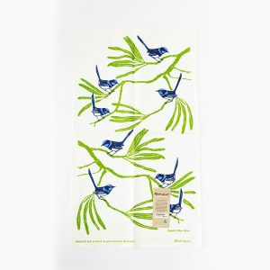 Rodriquez Tea Towel Blue Wren